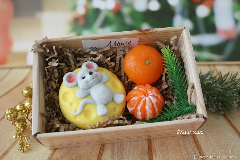 Мышонок с мандаринами, Мыло, Москва,  Фото №1