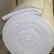Материалы для творчества ручной работы. Ярмарка Мастеров - ручная работа Наполнитель 100% хлопок белый ширина 220 см(для лоскутных одеял). Handmade.