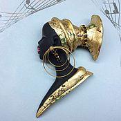 Украшения ручной работы. Ярмарка Мастеров - ручная работа Мавританка в профиль( золото). Handmade.