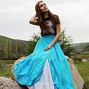 Одежда handmade. Livemaster - original item Long boho skirt