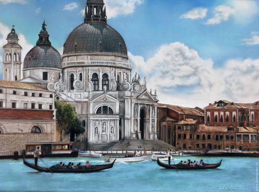 Венеция. Картина пастелью