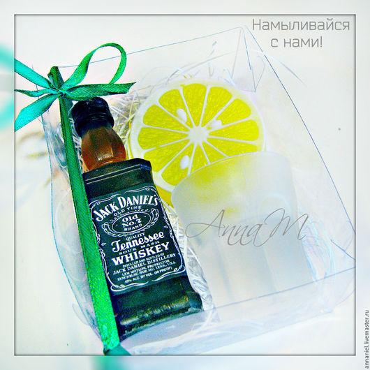 """Мыло ручной работы. Ярмарка Мастеров - ручная работа. Купить Набор """"Виски+шот+лимон"""". Handmade. Мыло ручной работы, лимон"""