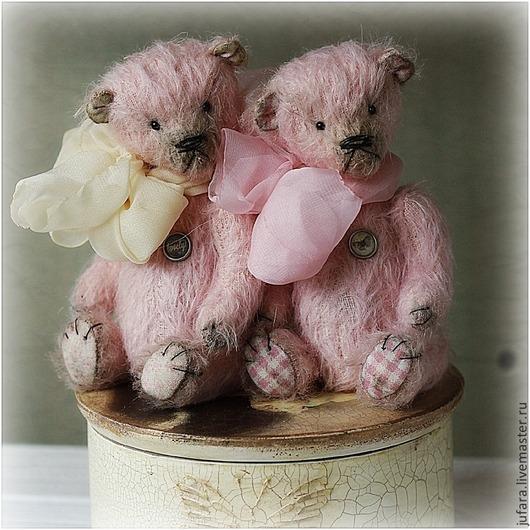 Мишки Тедди ручной работы. Ярмарка Мастеров - ручная работа. Купить Little angels. Handmade. Бледно-розовый, крылья