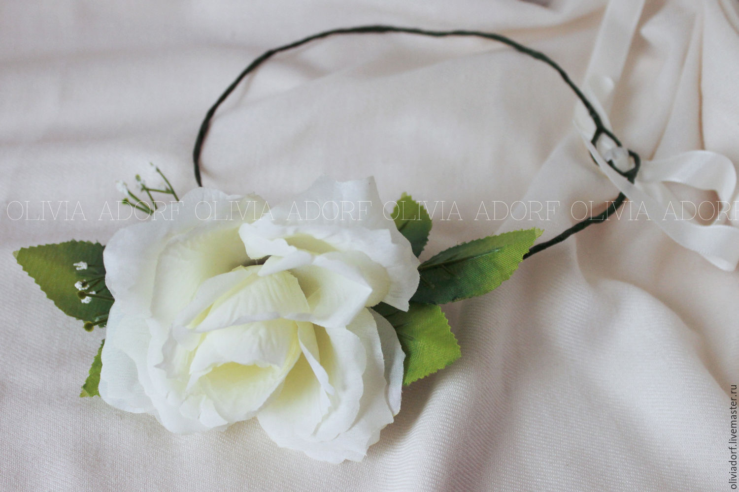 Wedding floral crown with white rose bridal headpiece flower crown wedding floral crown with white rose bridal headpiece flower crown bride hair accessory izmirmasajfo