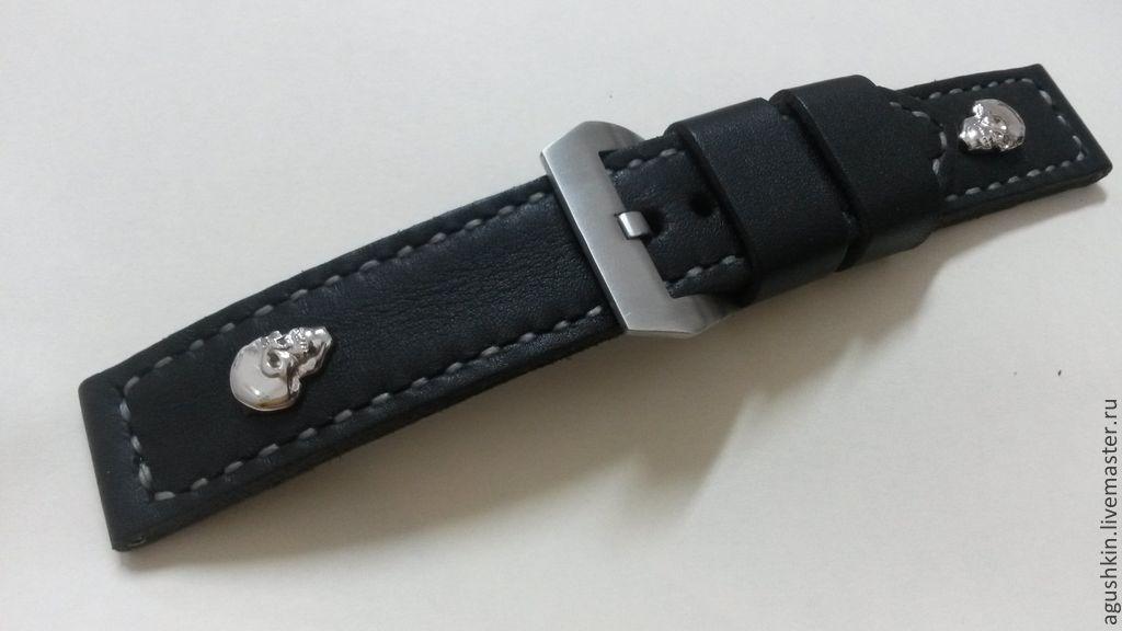 Ручной работы кожаный браслет для часов