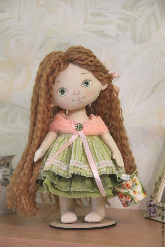 Коллекционная кукла, Ярмарка мастеров, кукла в подарок, милая малышка, куколка босиком