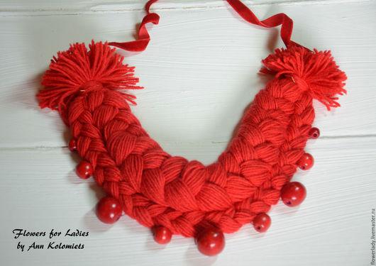 """Колье, бусы ручной работы. Ярмарка Мастеров - ручная работа. Купить Necklace-braid """"Ukrainochka""""/Колье-коса """"Украиночка"""". Handmade."""