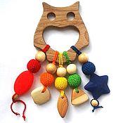 Куклы и игрушки ручной работы. Ярмарка Мастеров - ручная работа Грызунок-прорезыватель Сова. Handmade.
