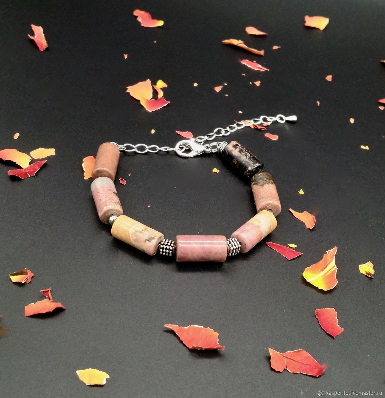 Pulsera de Rodonita unisex, Bead bracelet, Moscow,  Фото №1