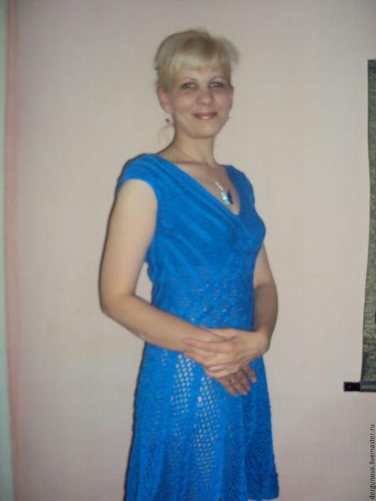 Платья ручной работы. Ярмарка Мастеров - ручная работа. Купить Платье. Handmade. Тёмно-синий, женская одежда, хлопок