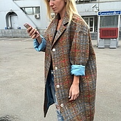 Одежда handmade. Livemaster - original item Wool coat oversized from AMODAY. Handmade.