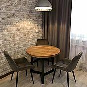 Для дома и интерьера handmade. Livemaster - original item Dining table made of elm slabs (project g. Yaroslavl). Handmade.
