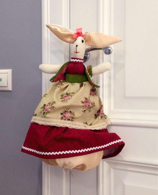 Куклы Тильды ручной работы. Ярмарка Мастеров - ручная работа. Купить Солнечная Зайка пакетница. Handmade. Пакетница, кролик