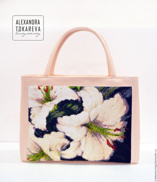 Женские сумки ручной работы. Ярмарка Мастеров - ручная работа. Купить Эксклюзивная сумка ручной работы вышитая бисером « Lilies ». Handmade.
