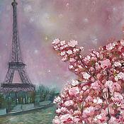 """Картины и панно ручной работы. Ярмарка Мастеров - ручная работа Картина """"Встретим весну в Париже?!"""". Handmade."""