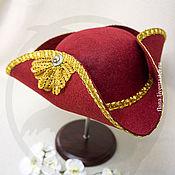 Субкультуры handmade. Livemaster - original item Tricorn (red). Handmade.