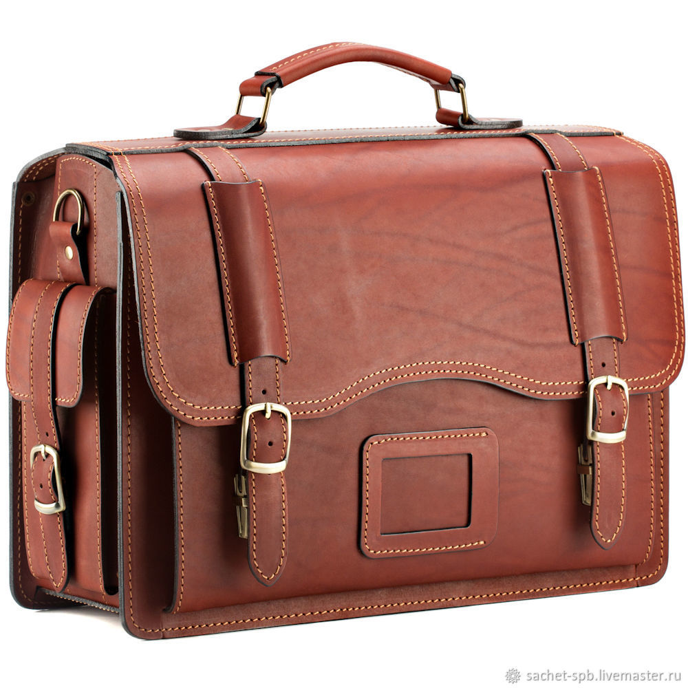 Leather briefcase-trunk ' Adjutant '(red), Brief case, St. Petersburg,  Фото №1