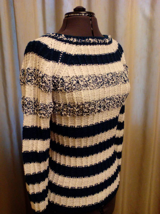 Кофты и свитера ручной работы. Ярмарка Мастеров - ручная работа. Купить Пуловер Вержей. Handmade. Комбинированный, ручное вязание