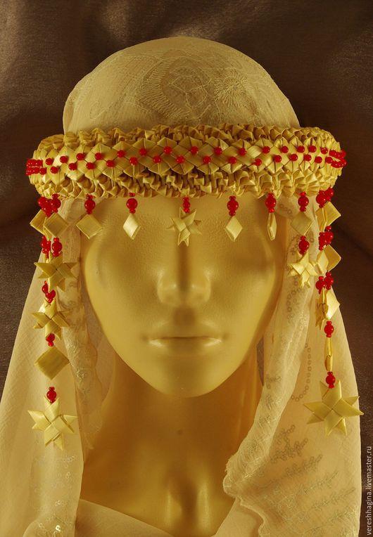Шляпы ручной работы. Ярмарка Мастеров - ручная работа. Купить Очелье женское с обереговой звездой на голову из соломки. Handmade. Абстрактный