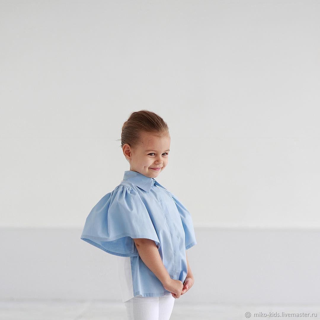 Хлопковая рубашка двухцветная, Блузки и рубашки, Екатеринбург,  Фото №1