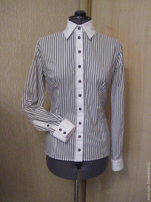 Блузки ручной работы. Ярмарка Мастеров - ручная работа. Купить Рубашка. Handmade. Рубашка, пошив рубашки, пуговицы