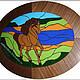 Витражная картина панно витражное витраж тиффани картина в подарок мужчине подарок мужчине на день рождения конь лошадь символ года дорогой подарок оригинальный подарок