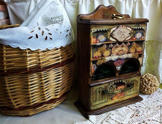 Кухня ручной работы. Ярмарка Мастеров - ручная работа. Купить БАБУШКИН БУФЕТ (для чайных пакетиков). Handmade. Буфет