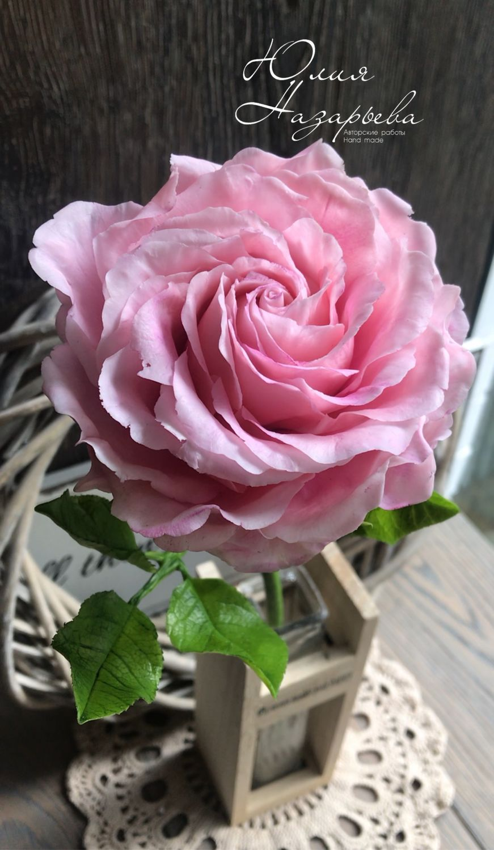 Роза из холодного фарфора, Украшения, Москва, Фото №1