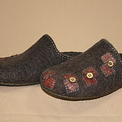 Обувь ручной работы handmade. Livemaster - original item Men`s Slippers felted Patches. Handmade.