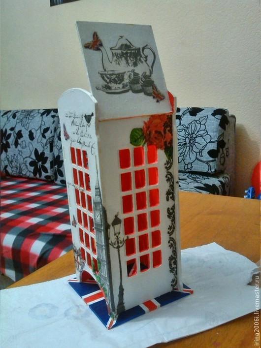"""Кухня ручной работы. Ярмарка Мастеров - ручная работа. Купить Чайный домик """"Английская телефонная будка"""". Handmade. Разноцветный"""