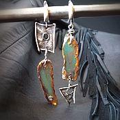 Украшения handmade. Livemaster - original item Blue Dominican amber. Dominicana Silver Earrings. Handmade.