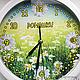 """Часы для дома ручной работы. Часы настенные """"Ромашки"""". Екатерина (JayKay). Интернет-магазин Ярмарка Мастеров. Настенные часы, ромашки"""