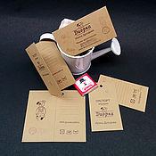 Дизайн и реклама ручной работы. Ярмарка Мастеров - ручная работа Визитки, бирки, паспорта на крафт-бумаге. Handmade.