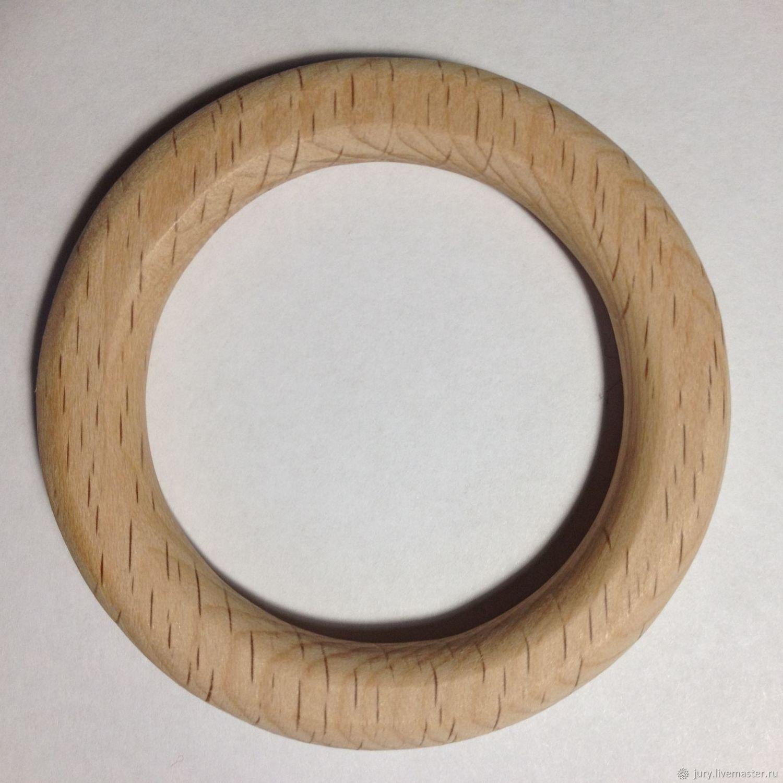 Колечко из дерева d-65mm,толщина-8мм,ширина-10мм, Грызунки погремушки, Севастополь,  Фото №1