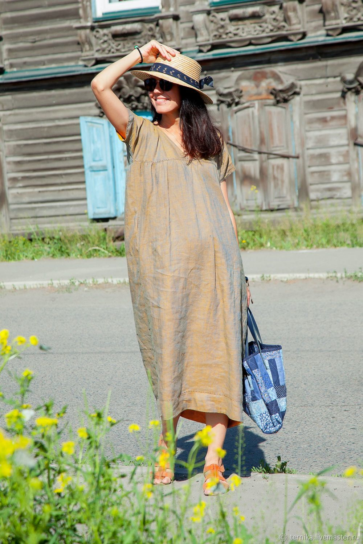 """Платье льняное """"Солнце в кармане"""", Платья, Бийск,  Фото №1"""