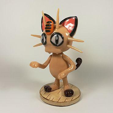 Куклы и игрушки ручной работы. Ярмарка Мастеров - ручная работа Покемон Мяут Коллекционная игрушка. Handmade.