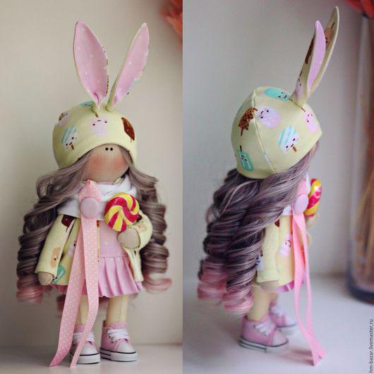 Куклы тыквоголовки ручной работы. Ярмарка Мастеров - ручная работа. Купить Кукла ручной работы. Handmade. Розовый, кукла текстильная