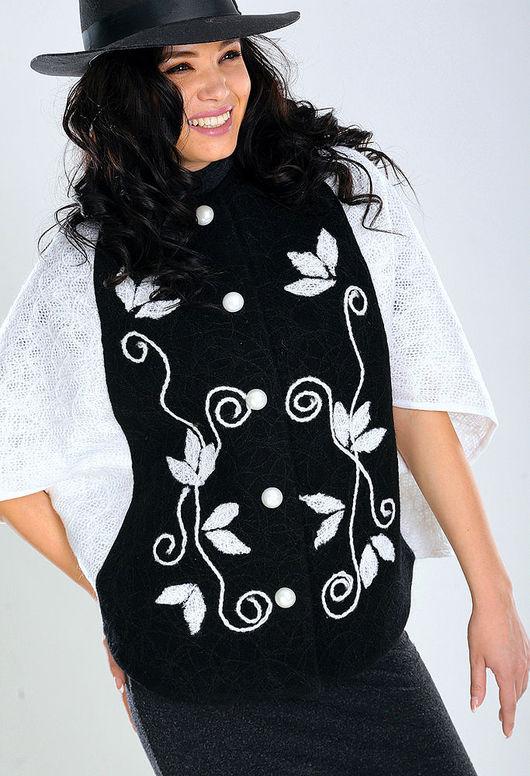 Верхняя одежда ручной работы. Ярмарка Мастеров - ручная работа. Купить ПЧ (М) 04. Handmade. Цветочный, пальто с капюшоном