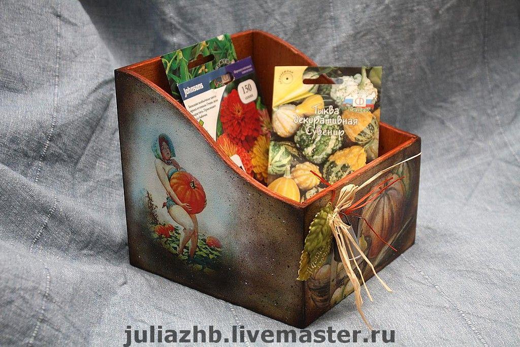 Exterior & Cottage Home handmade. Livemaster - handmade. Buy Box for seeds.Brown, box for seeds