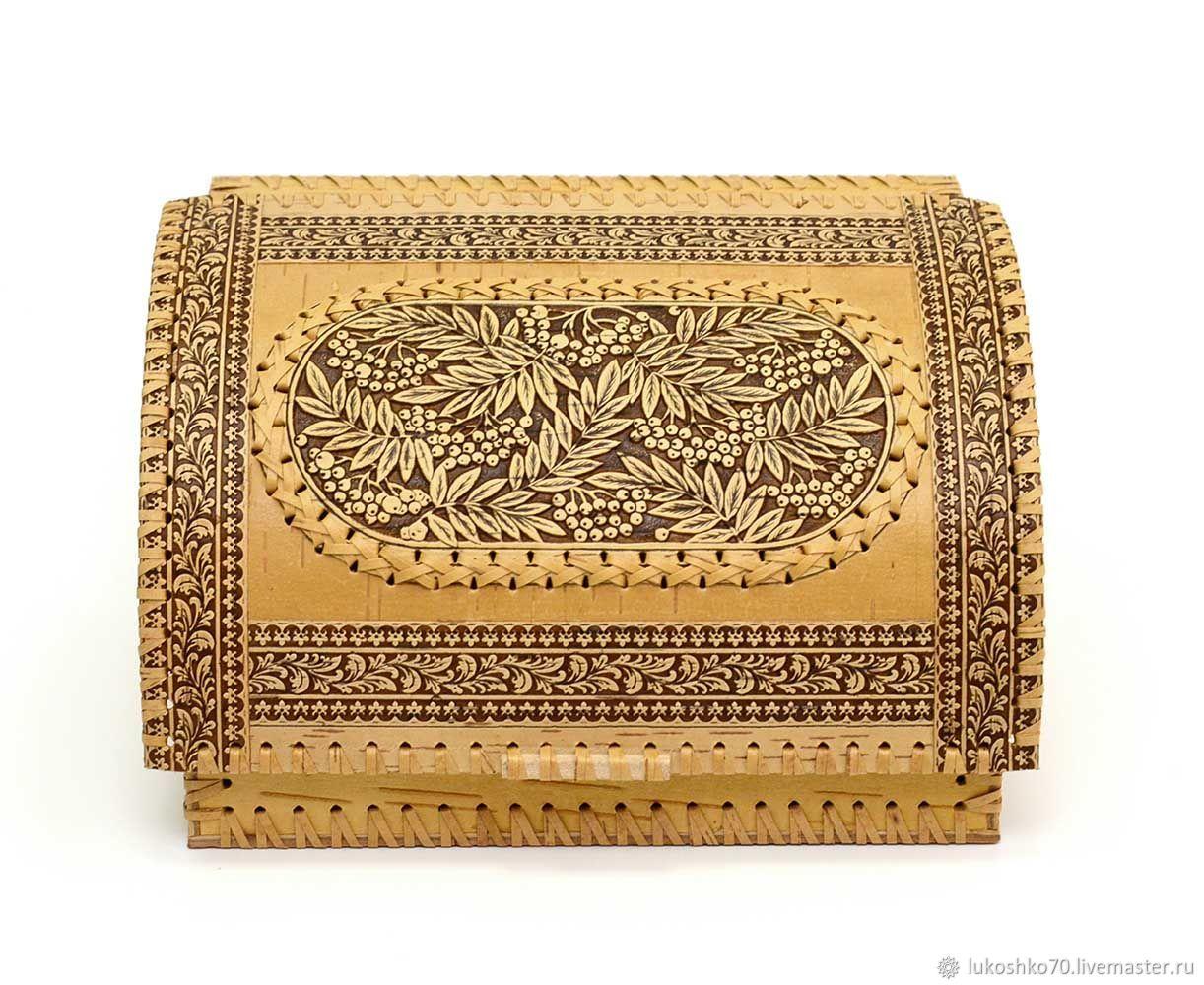 Small bread box 'Rowan'. Wooden bread bin, The bins, Tomsk,  Фото №1