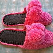 Обувь ручной работы handmade. Livemaster - original item Knitted house Slippers - flip flops ( the wool ). Handmade.