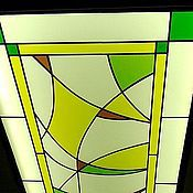 Stained glass handmade. Livemaster - original item Abstraction. Ceiling Stained Glass. Handmade.