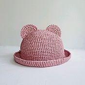 Аксессуары handmade. Livemaster - original item Summer raffia hat for girls. pink Panama. Handmade.
