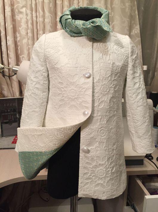 Одежда для девочек, ручной работы. Ярмарка Мастеров - ручная работа. Купить Пальто из жаккардовой ткани. Handmade. Пальто, жаккардовая ткань