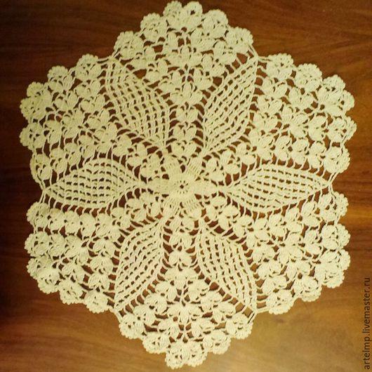 Текстиль, ковры ручной работы. Ярмарка Мастеров - ручная работа. Купить Салфетка вязаная крючком. Handmade. Белый, подарок