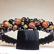 Украшения handmade. Livemaster - original item Rim of stones (aventurine). Handmade.