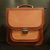 Сумки и аксессуары handmade. Livemaster - original item Men`s briefcase tan / natural color. Handmade.
