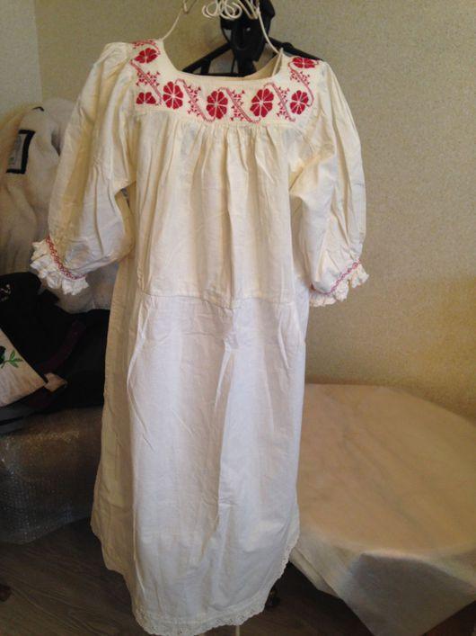 Платья ручной работы. Ярмарка Мастеров - ручная работа. Купить Старинная женская льняная рубаха. ручная работа. вышивка. Handmade.