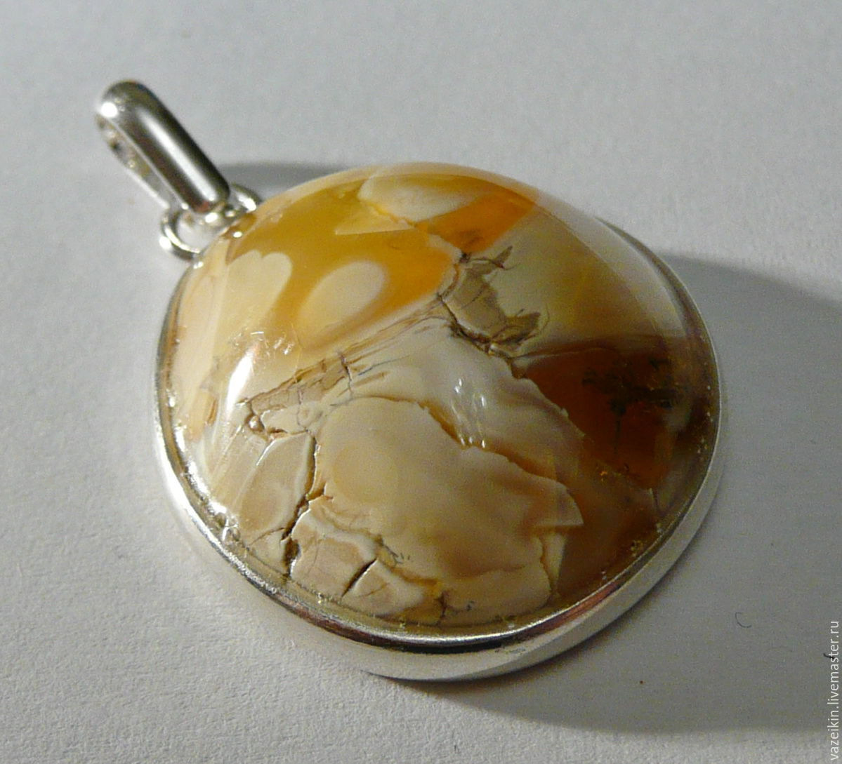 Amber pendant K-437 'Rarity', Pendants, Svetlogorsk,  Фото №1