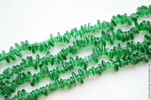 Для украшений ручной работы. Ярмарка Мастеров - ручная работа. Купить Кварц зеленый крошка 9х3мм. Handmade. Зеленый, крошка